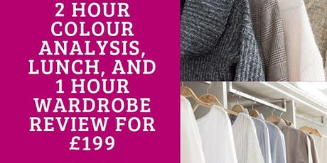 Colour Analysis with Wardrobe Review & Lunch tickets