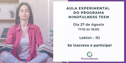 Aula Experimental do Programa Mindfulness Teen