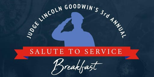 Judge Goodwin's 3rd Annual Salute to Service Breakfast