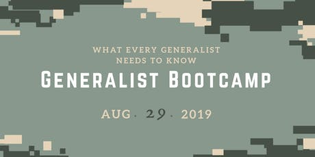 ACCWPA - Generalist Bootcamp:  What Every Generalist Needs To Know tickets
