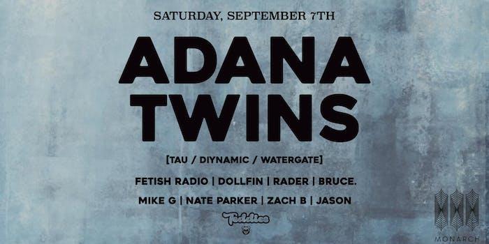Adana Twins – San Francisco – Sep 7 | edmtrain