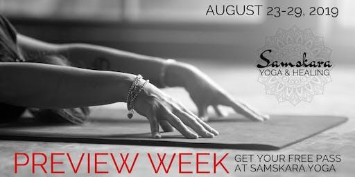 Free Preview Week at Samskara Yoga & Healing in Dulles, VA