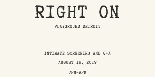Right On: An Intimate Screening and Q&A with Director Zachary Cunningham