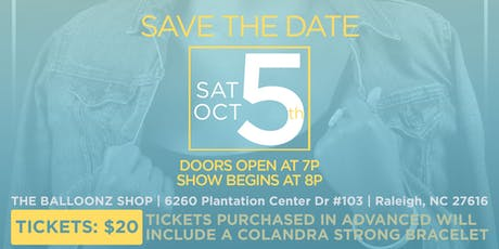 """Colandra Strong: My Breast Cancer Story """"The Love, Faith & The Music"""" tickets"""