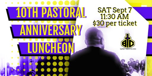 10th Pastoral Anniversary Luncheon