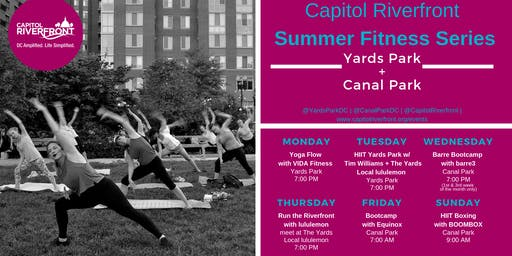 Capitol Riverfront Summer Fitness Series: Yoga w/ VIDA Fitness