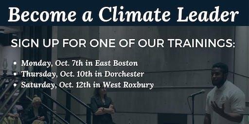 Greenovate Boston Leaders Training - Dorchester