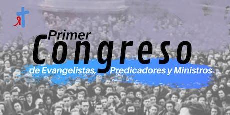 Congreso Evangelistas, Predicadores y Ministros. boletos