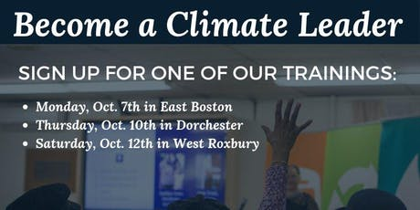 Greenovate Boston Leaders Training - East Boston tickets
