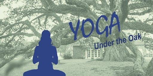 Yoga Under the Oak 8/31/19
