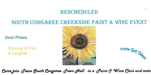 South Congaree Creekside Paint & Wine Event