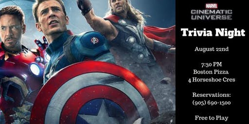 Marvel Movies Trivia Night - Waterdown