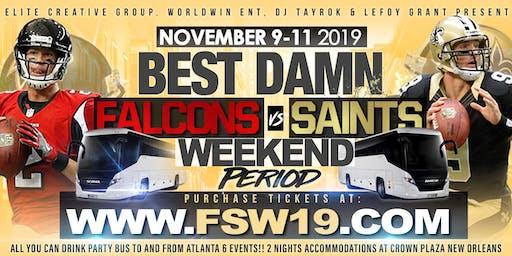 Best Damn Falcons vs Saints Trip in New Orleans