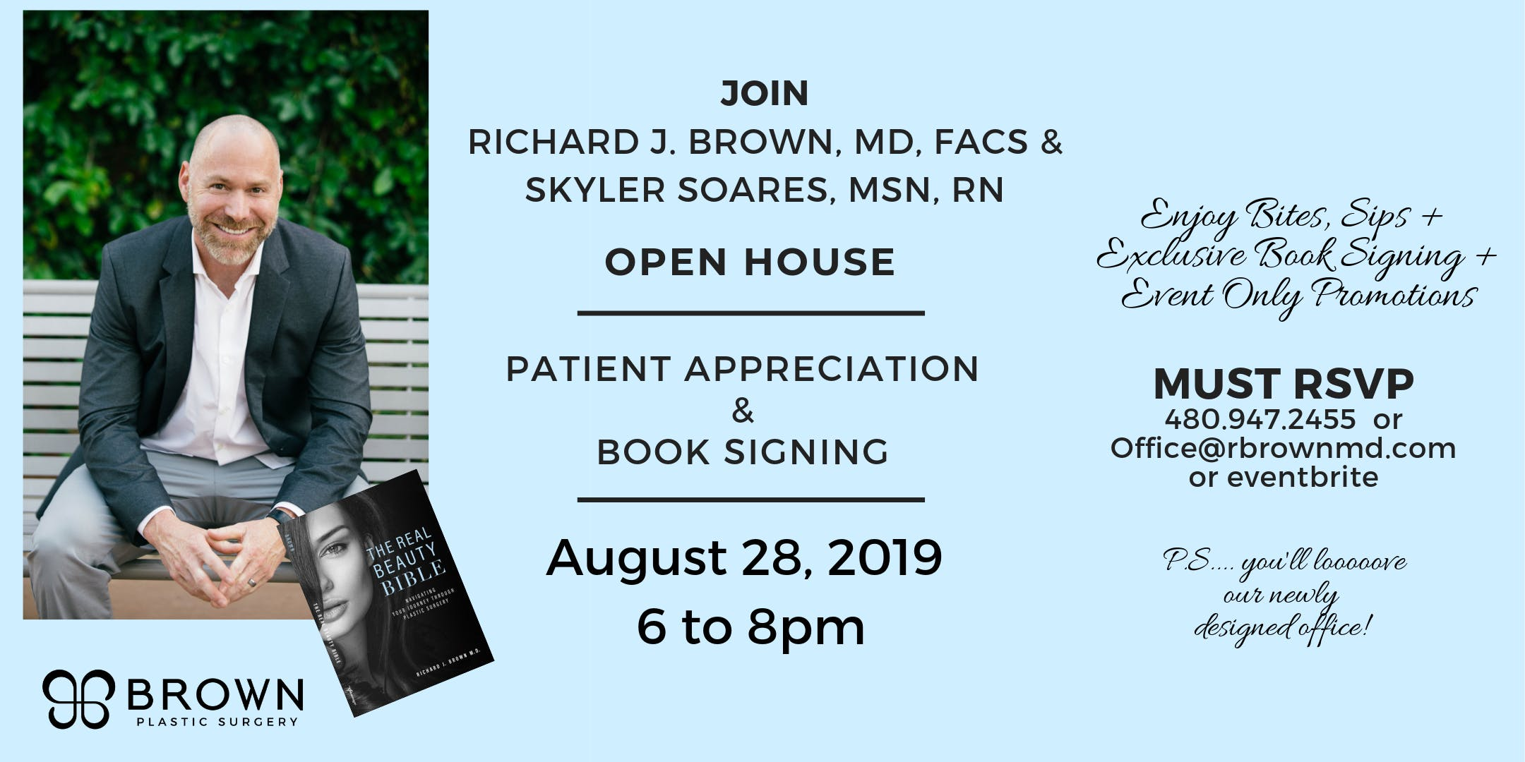 Patient Appreciation & Book Signing - Brown Plastic Surgery