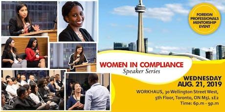 WOMEN IN COMPLIANCE: Speaker Series tickets