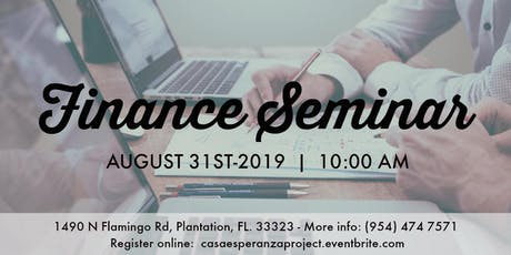 Finance Seminar - Seminario de Finanzas  2019 entradas