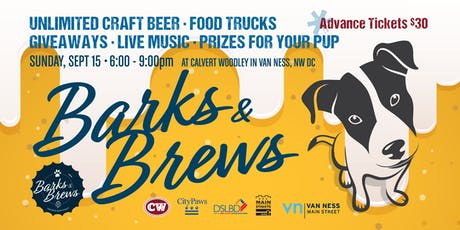 Barks and Brews Festival in Van Ness! tickets