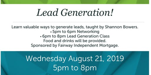 Lead Generate with Shannon Bowers