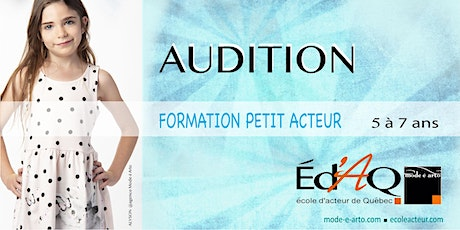 Audition Petit Acteur 2020 tickets