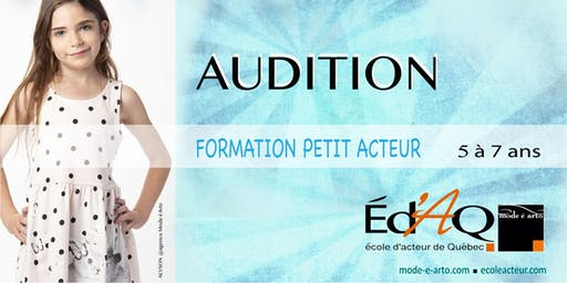 Audition Petit Acteur 2020
