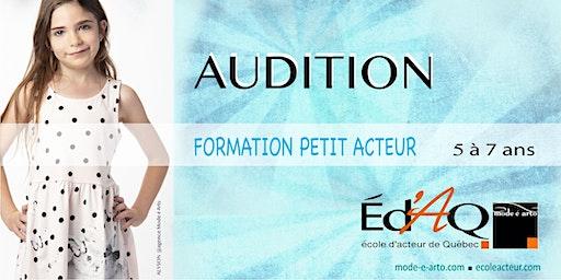 Audition Petit Acteur 2020