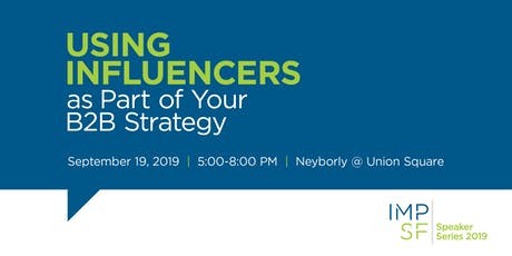PANEL: Using influencers as part of your B2B strategy tickets