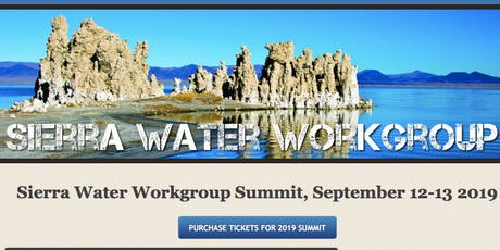 2019 Sierra Water Workgroup Summit tickets