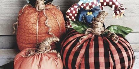 No Sew Fabric Pumpkin Workshop tickets