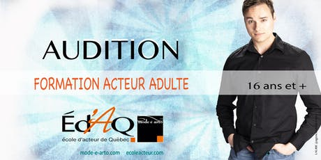 Audition Acteur Adulte 2020 billets