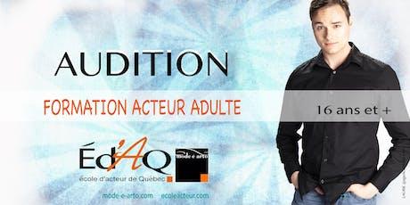 Audition Acteur Adulte 2020 billets