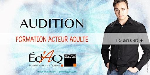 Audition Acteur Adulte 2020