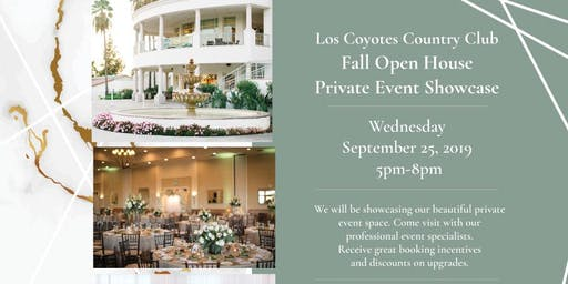 Los Coyotes' Fall Open House: Private Event Showcase