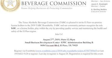 2019 Texas Alcoholic Beverage Commission Roundtable- El Paso, TX