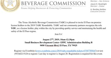 2019 Texas Alcoholic Beverage Commission Roundtable- El Paso, TX
