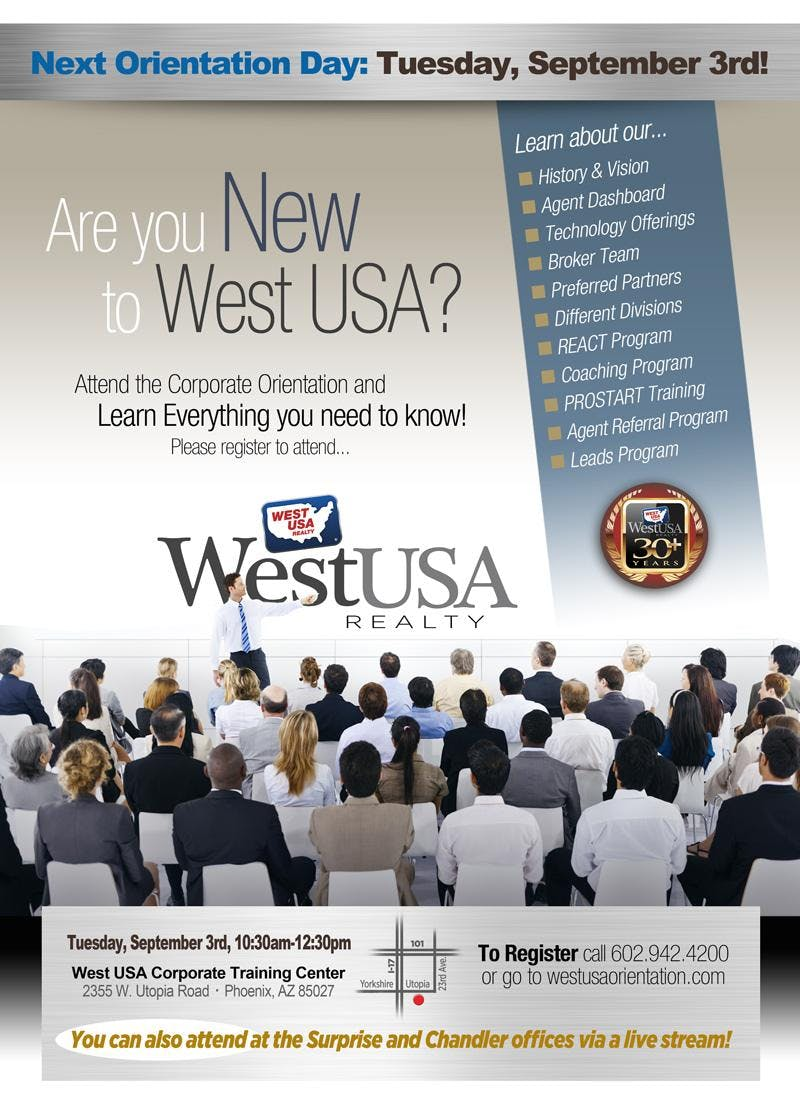 West USA Realty - Corporate Orientation September