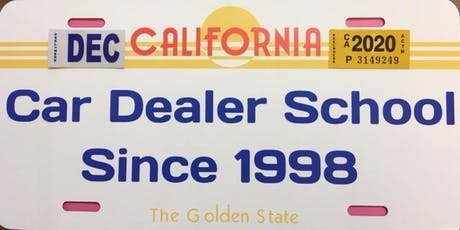 Golden State Dealer License Training tickets