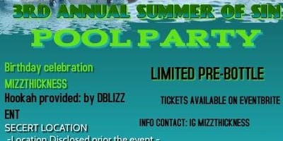 Summer Of Sin Pool Party