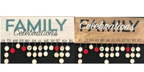 Craft Night Family's Birthdays on a Wood Frame tickets