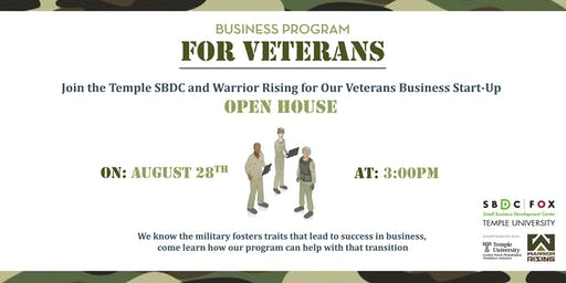 Open House for Small Biz Special Forces Veteran Incubator Program