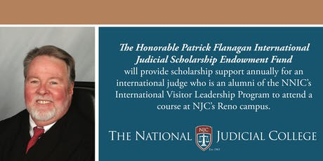 Hon. Patrick Flanagan International Judicial Scholarship Fund Reception tickets