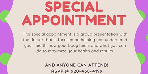 Personal Dr. Invite to: Our Special Appointment