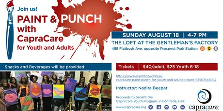 CapraCare Paint & Punch for Youth and Adults tickets