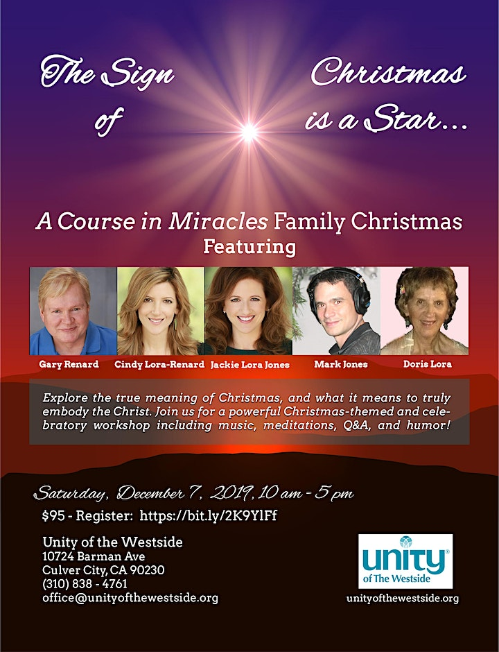 The Sign of Christmas is a Star:  A Course in Miracles Family Christmas! image