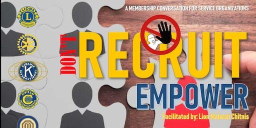 A membership conversation for service organizations