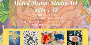 Mixed Media Art for Ages 5-18, September