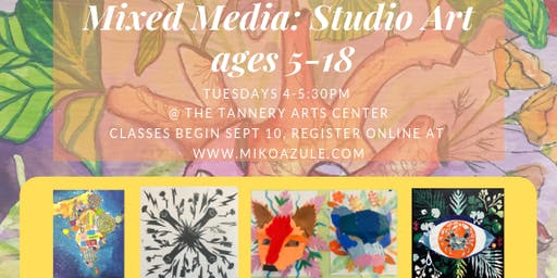 Mixed Media Art for Ages 5-18, September