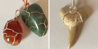 Wire Jewellery Workshop - Wire Trapped Stones & Wrapped Sharks Tooth