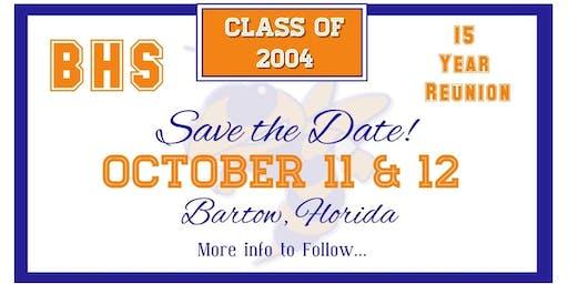 BHS c/o 2004 15 Year Reunion