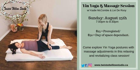 Yin & Massage Session tickets