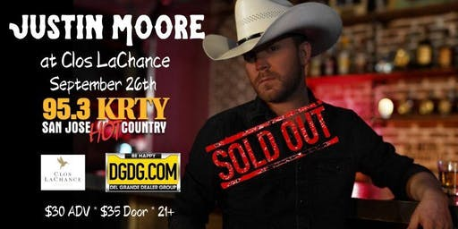 95.3 KRTY and DGDG.COM PRESENT THE 5TH ANNUAL JUSTIN MOORE CLOS NIGHT